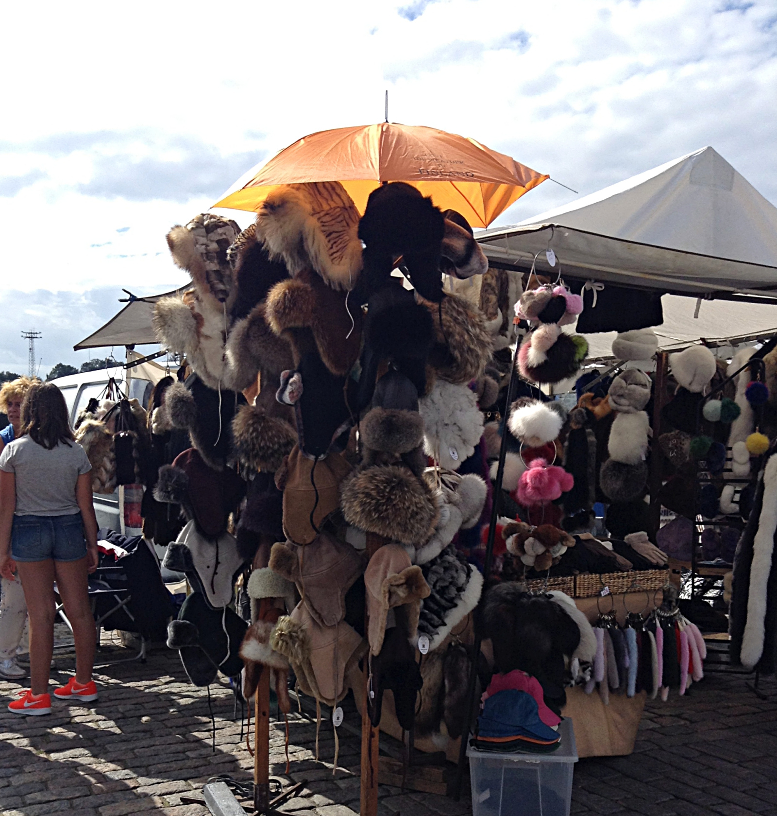Helsinki Market Square Fur Clothing