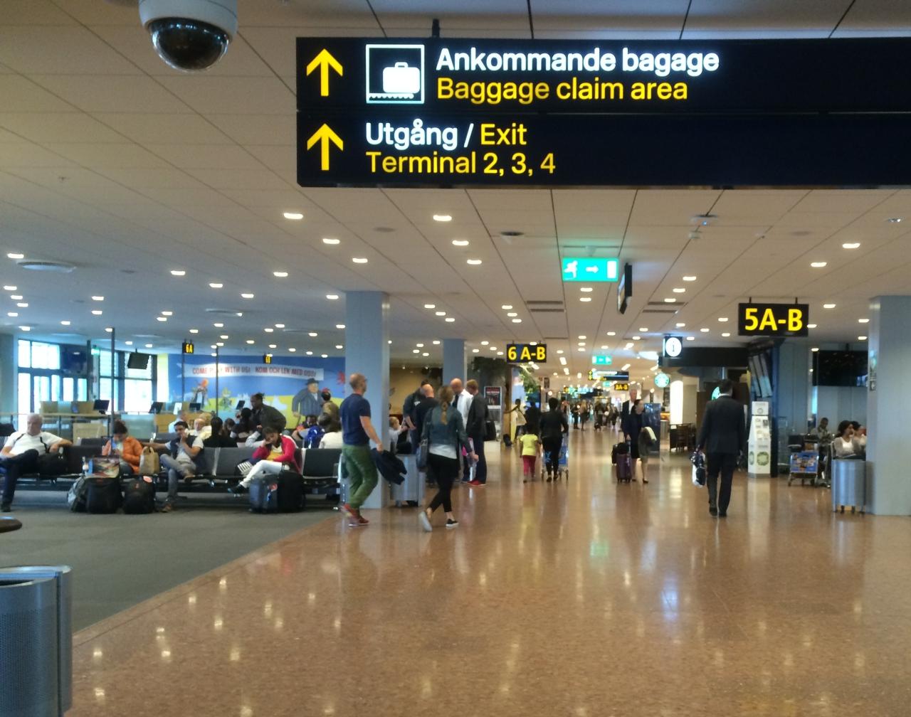 Inside Stockholm Airport