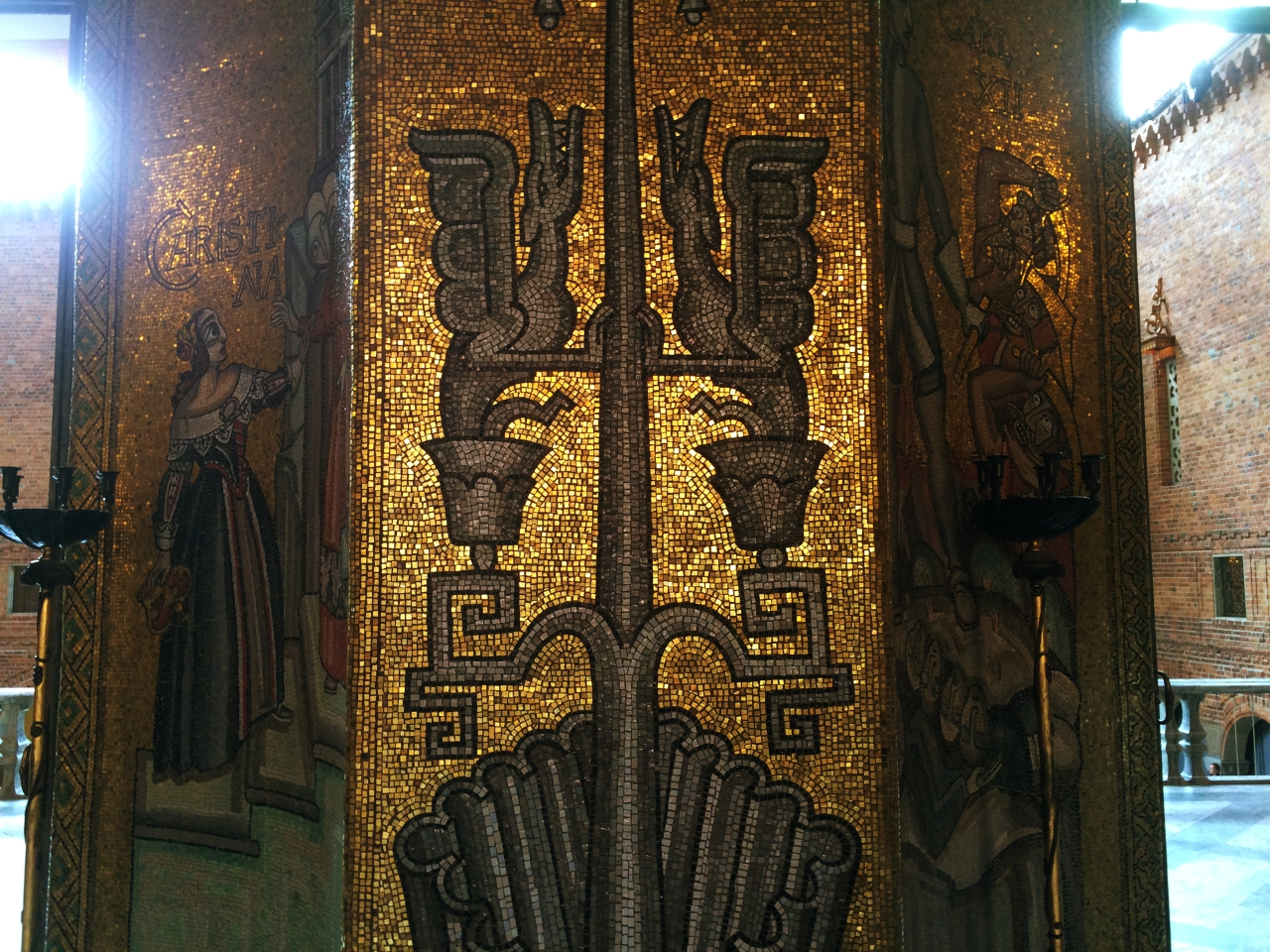 Stockholm Town Hall Golden Interiors