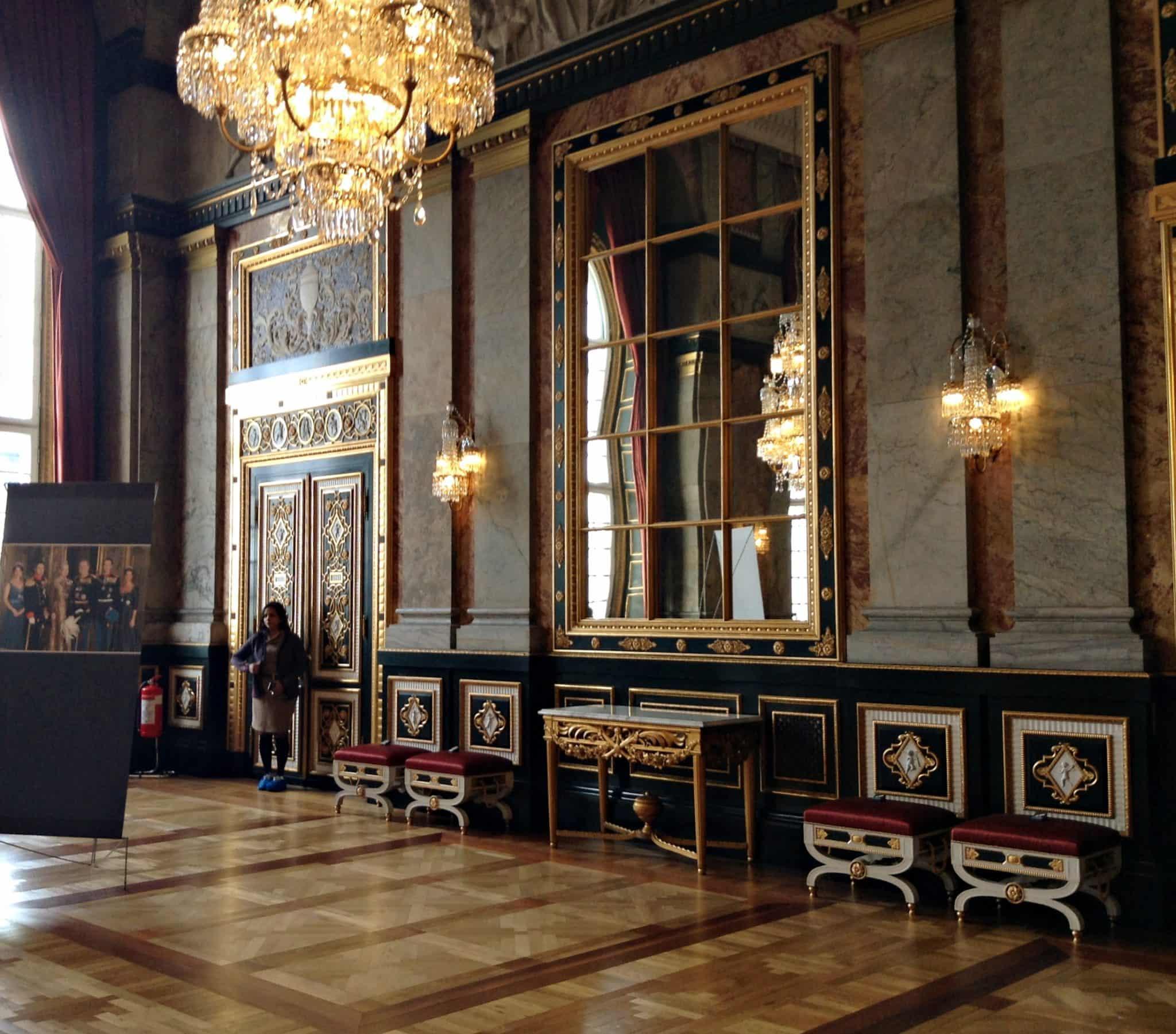 Inside Christiansborg Palace Copenhagen