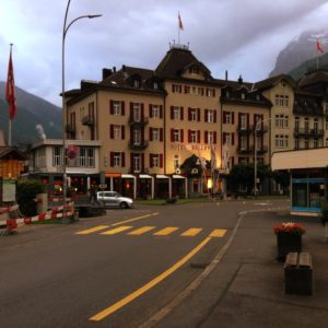 Outside Bellevue Terminus Switzerland