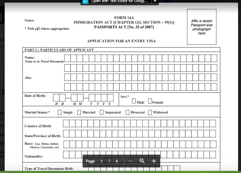 SingaporeVisaForm Visa Application Form Singapore Download on malaysia visa application form, guyana visa application form, laos visa application form, kenya visa application form,