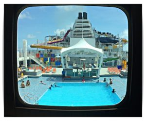 From the other side of the pool deck