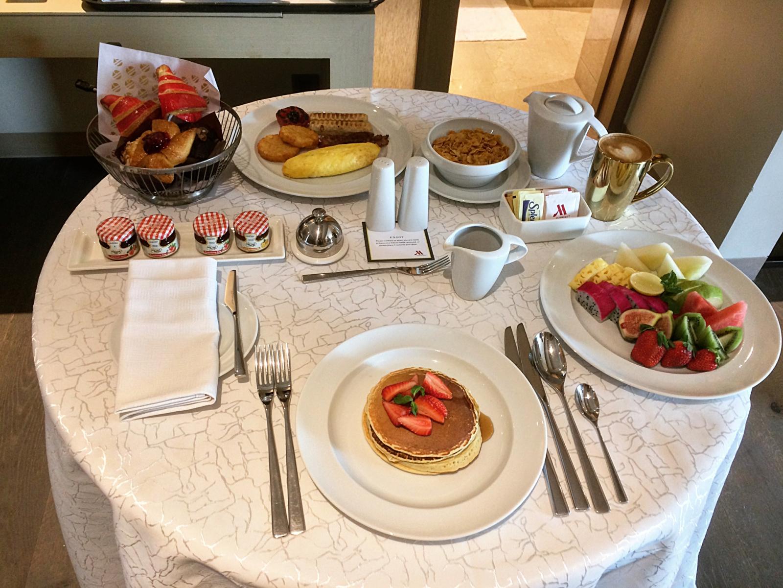 Indore Marriott Breakfast in Bed