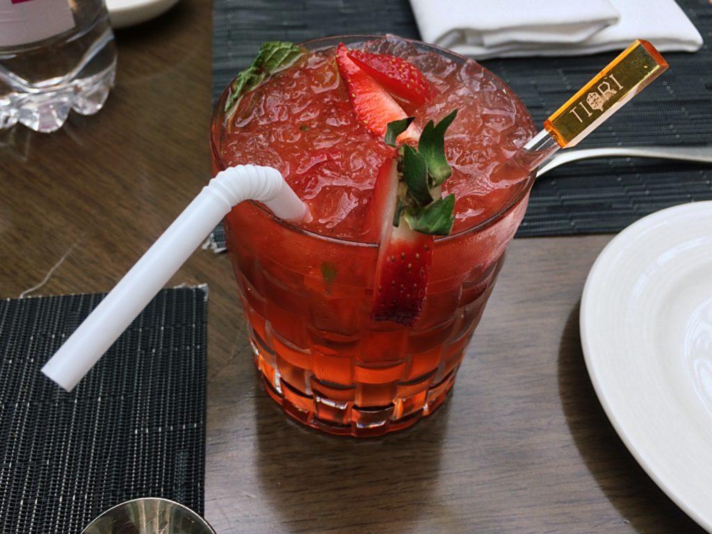Tiqri Signature Strawberry Cocktail