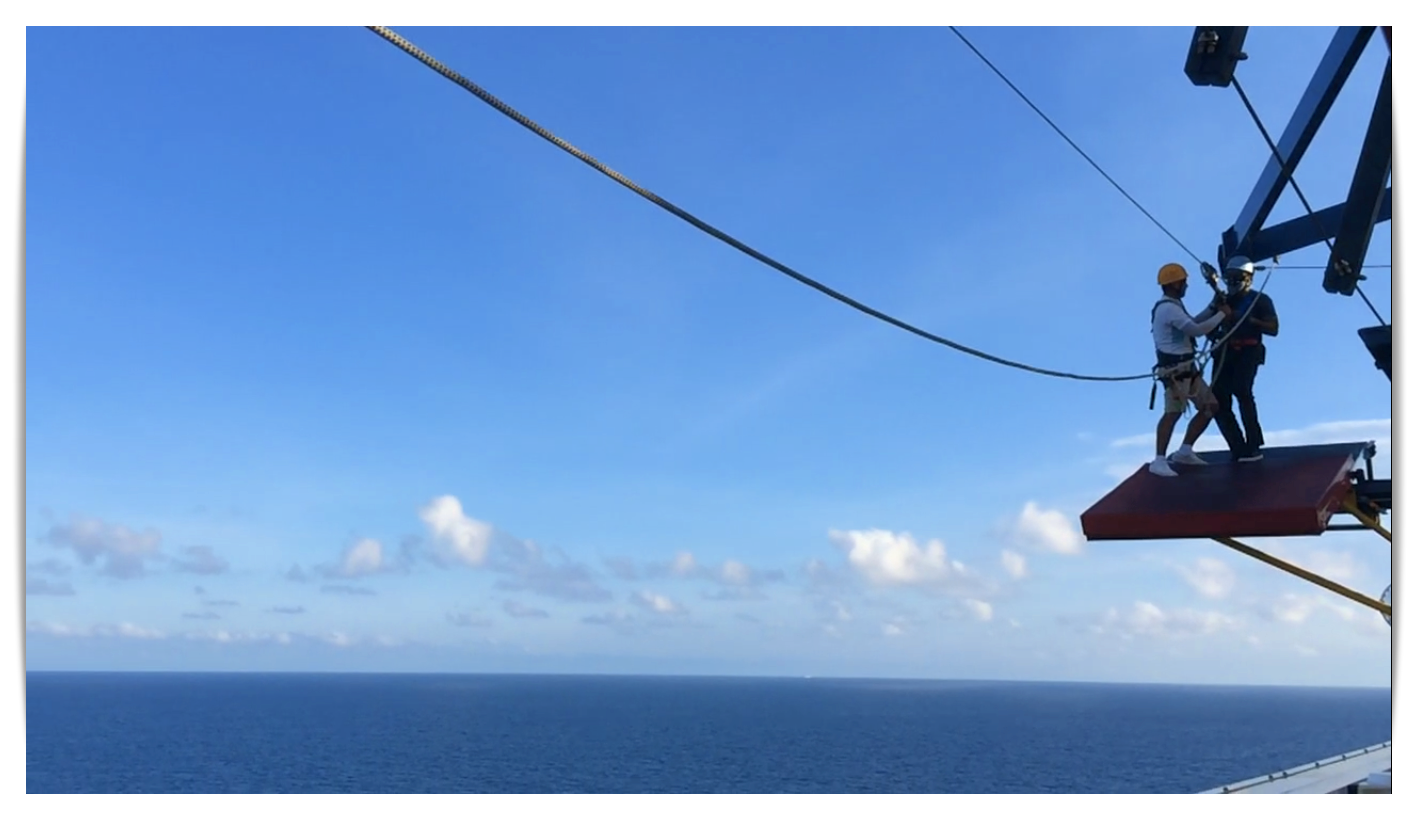 Ziplining Ocean Genting Dream
