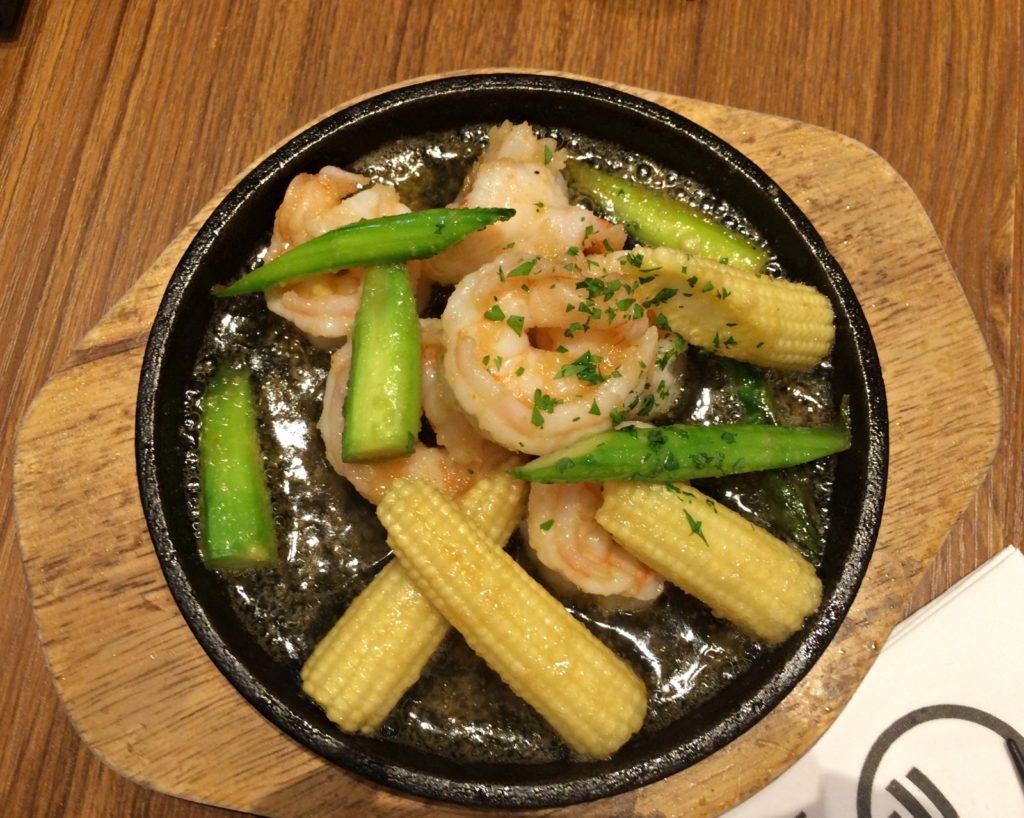 Teppan Grilled Garlic Shrimp