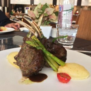 NZ Herb crusted Lam Rack with Truffle and Parmesan Mash