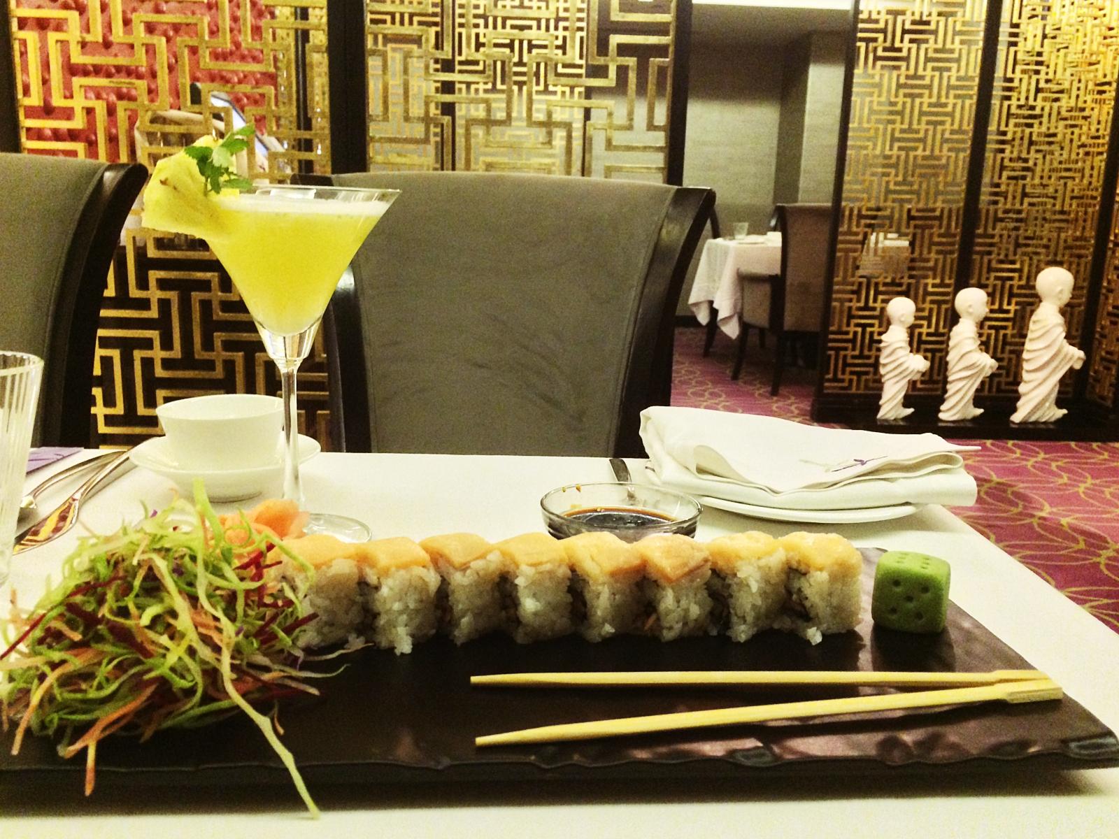 Ni Hao Smoked Salmon Sushi