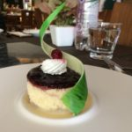Wild Berry Philadelphia Cheese Cake with Saffron and Vanilla Sauce
