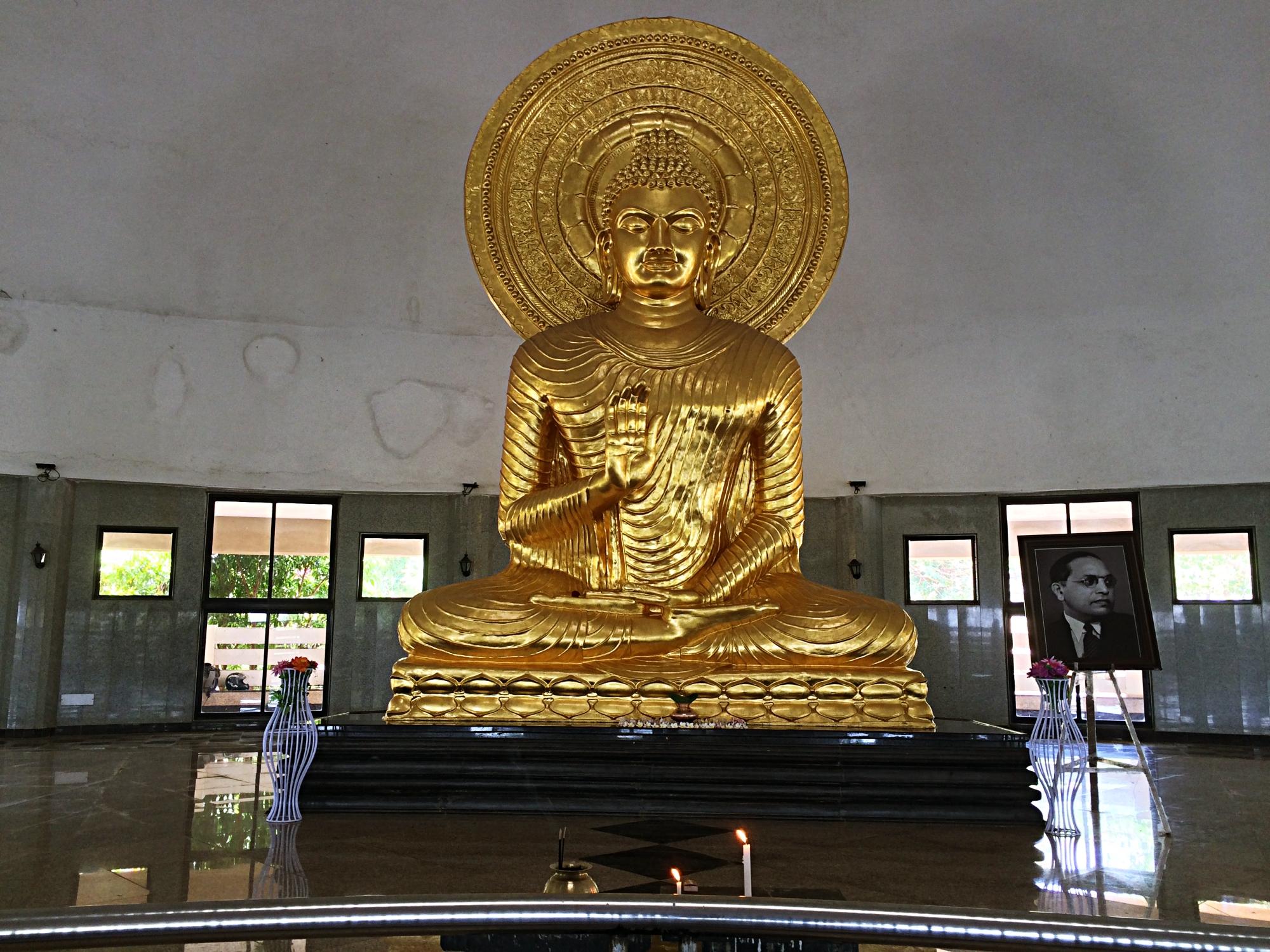 Golden Buddha Statue in Nashik
