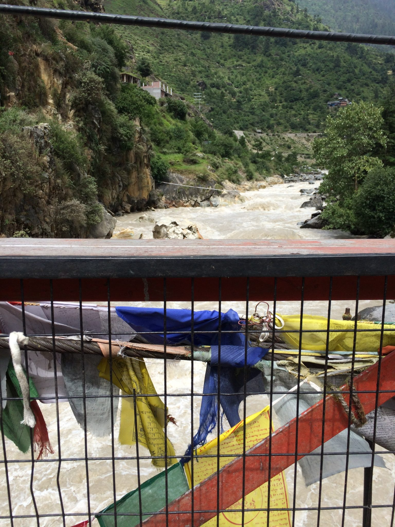 Buddhist Flags in Manali