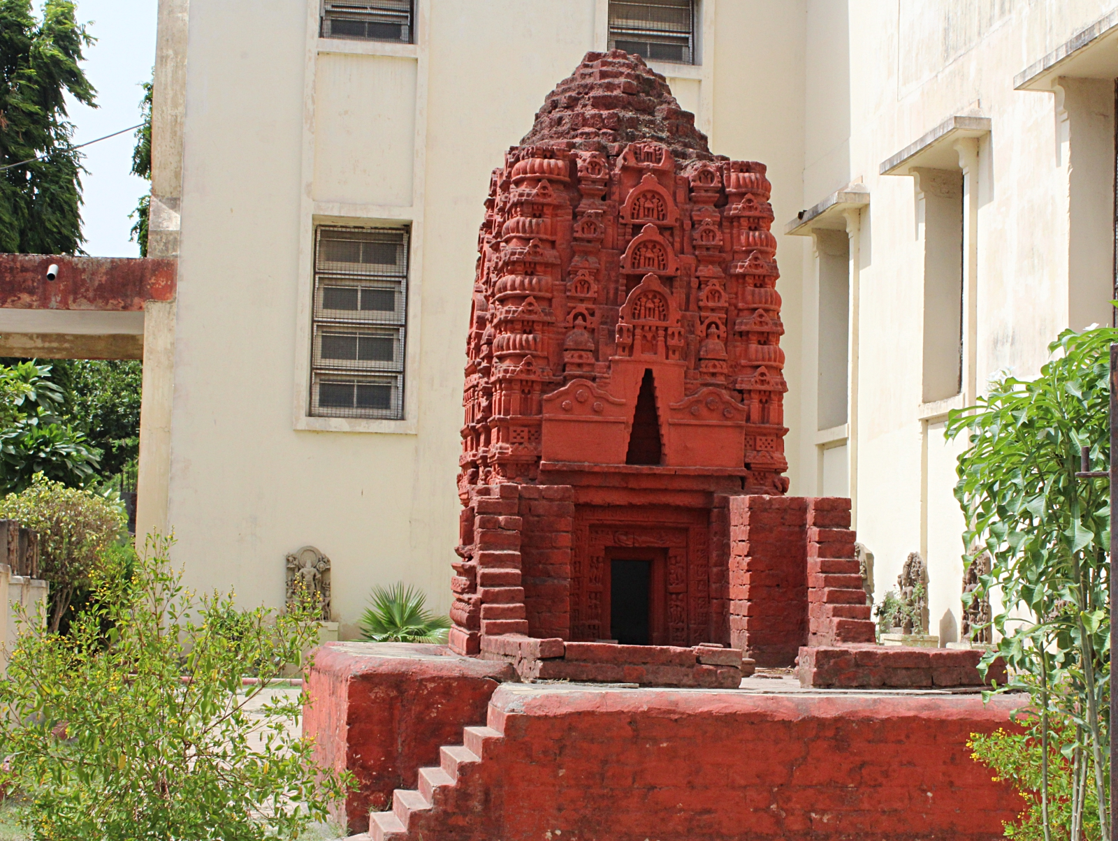 Red Bricked Vishnu Temple Model Indore Museum