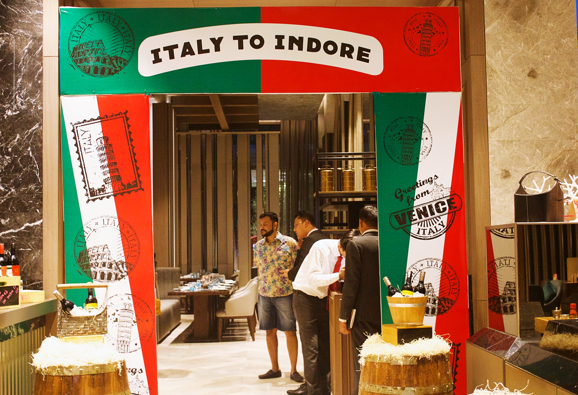 Indore Marriott Italy to Indore