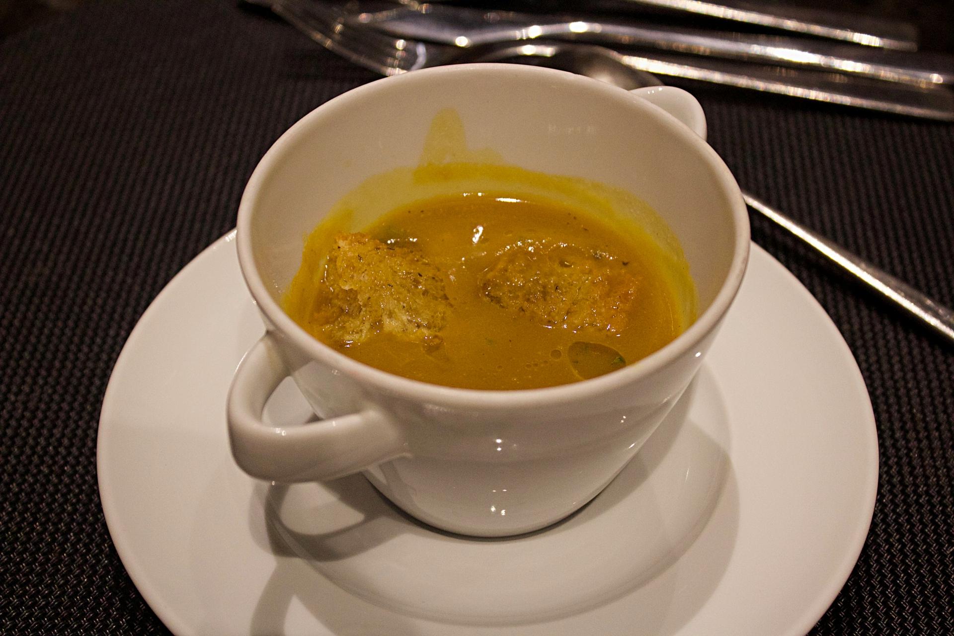 Marriott Pumpkin Mushroom Soup