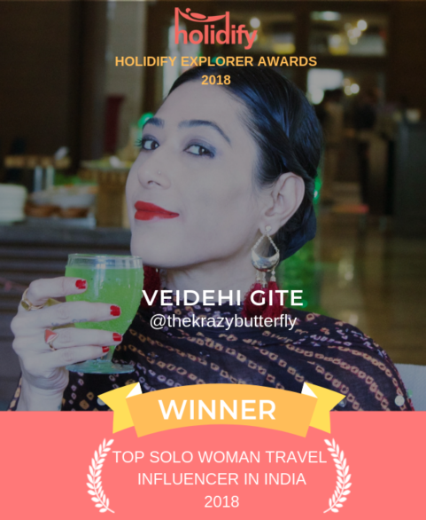 Holidify Solo Woman Travel Influencer Winner