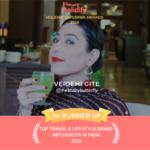Holidify Travel & Lifestyle 1st Runner up