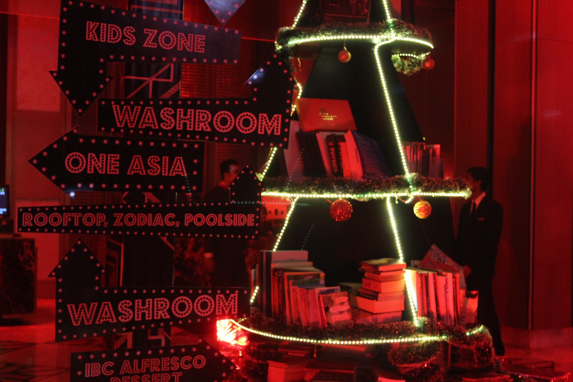 Indore Marriott Lobby on New Year Eve