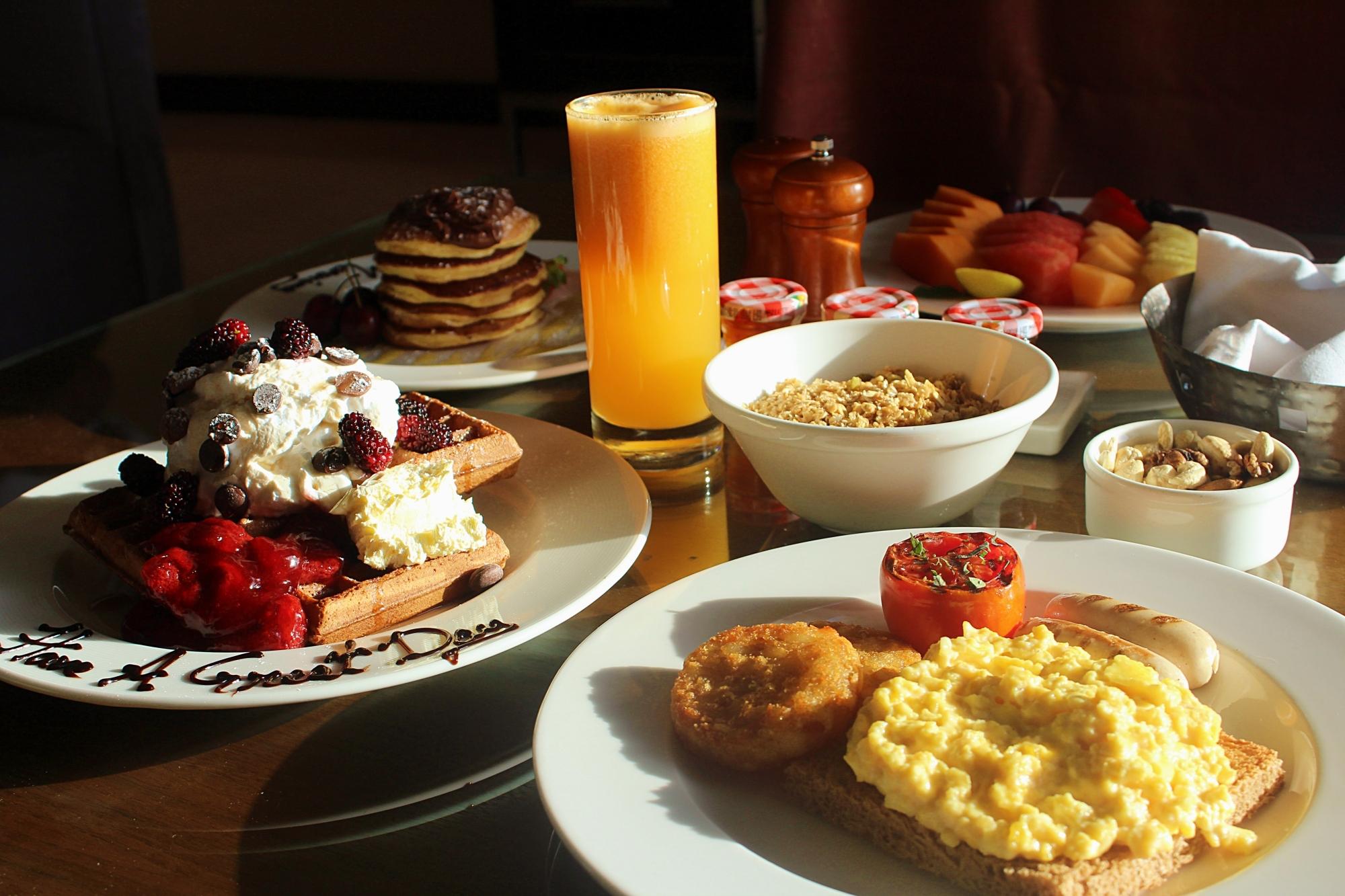Renaissance Mumbai in-room breakfast