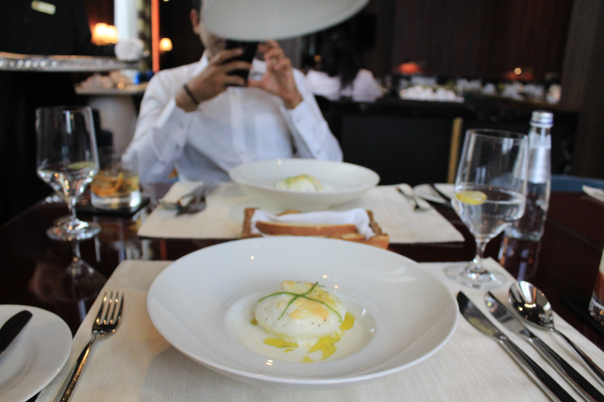 Brie and Truffle Soufflé Hemant Oberoi