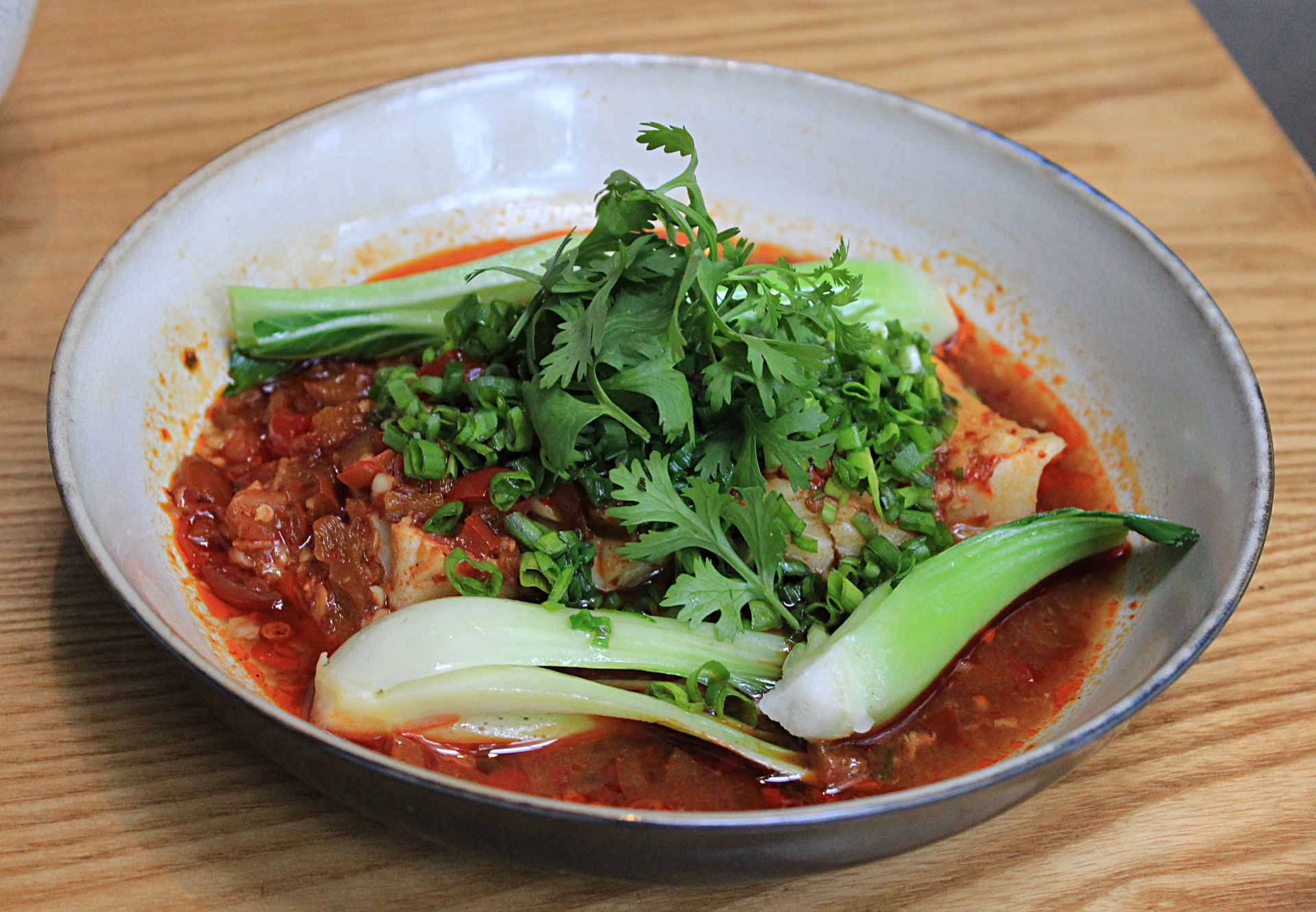 Hunan style steamed chilean sea bass San Qi