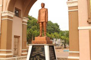 Sayaji Gate Tukojirao Statue