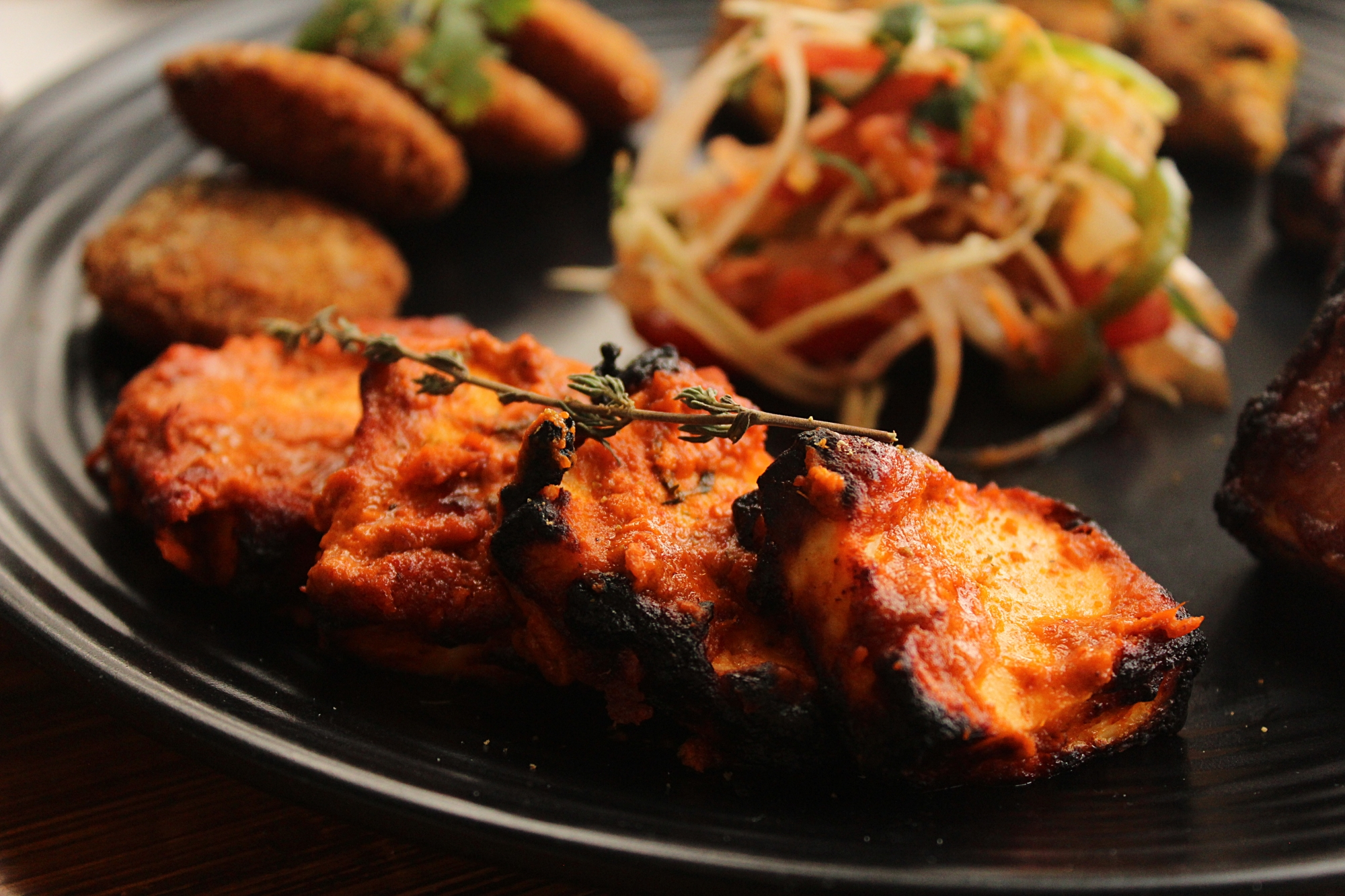 The Monroe Cafe Red Thai Curry Paneer Tikka