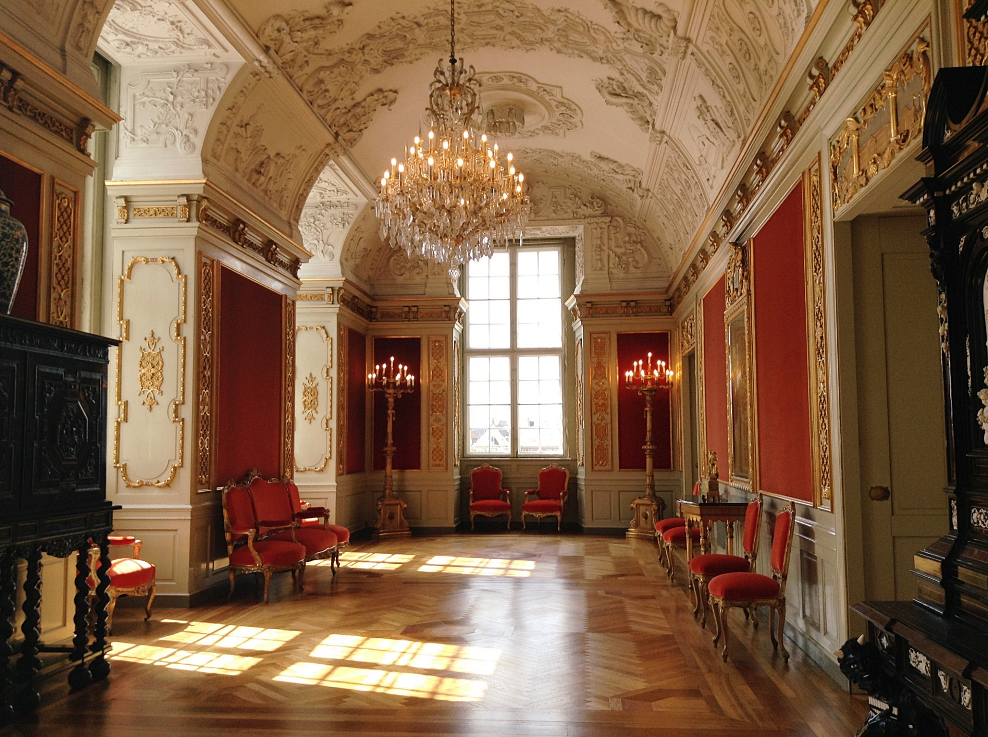 Christiansborg Palace from inside