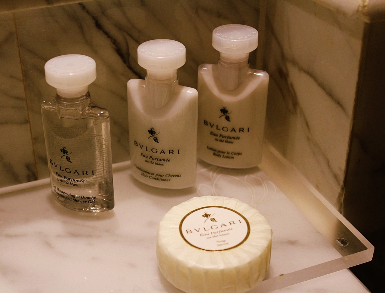 Kingsbury Hotel Bvlgari Toiletries