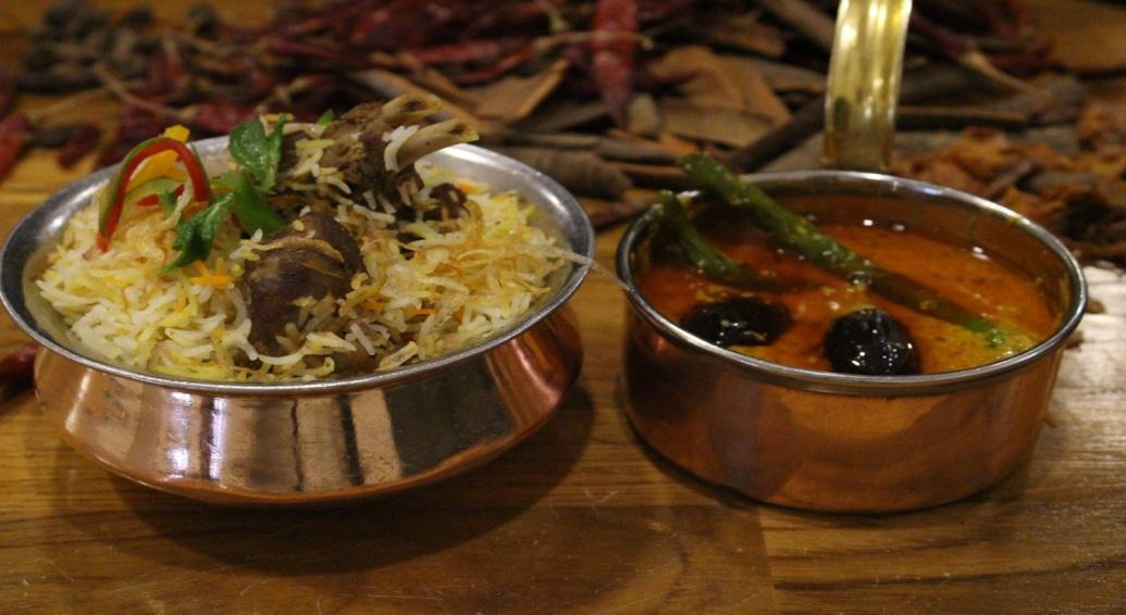 Bhopali Mutton Biryan with Baigan Mirch ki salan