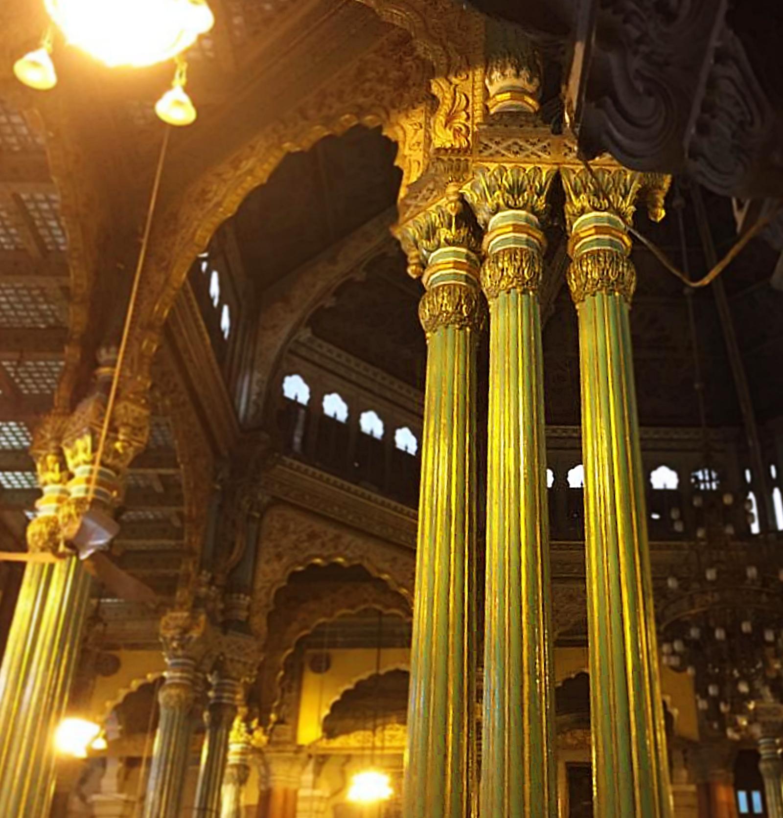 Mysore Palace Columns