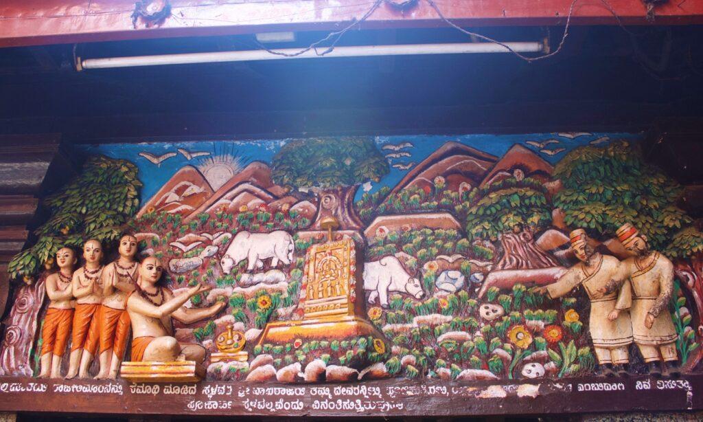 Wall Carvings Shree Krishna Temple